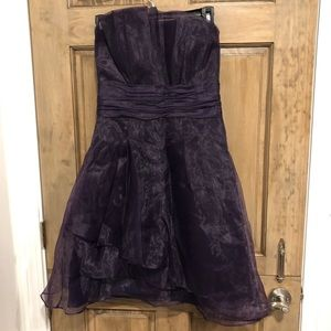 Size 6 David's Bridal Strapless Organza Dress